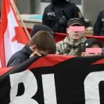 """Grünberg: """"Die Rechte"""" Pressesprecher aus der Wetterau im Schwarzen Block bei JN Demo in Grünberg"""