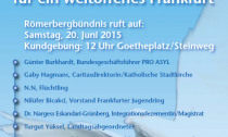 20.06 Weltflüchtlingstag Frankfurt