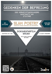 Plakat Auschwitz Gedenken