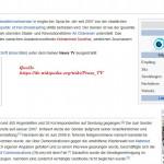 Wikipedia-Auszug zu dem Sender