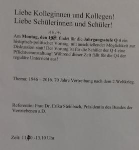 Steinbach Vortrag online