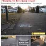 Bad Nauheim: Rechtsextreme in Aktion – Die Identitären verschandeln den Bad Nauheimer Sprudelhof mit ihren rechten Parolen